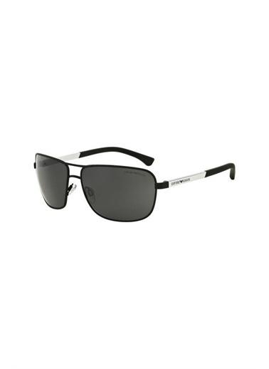Emporio Armani 0Ea20 Dikdörtgen Çerçeveli Erkek Güneş Gözlüğü Siyah